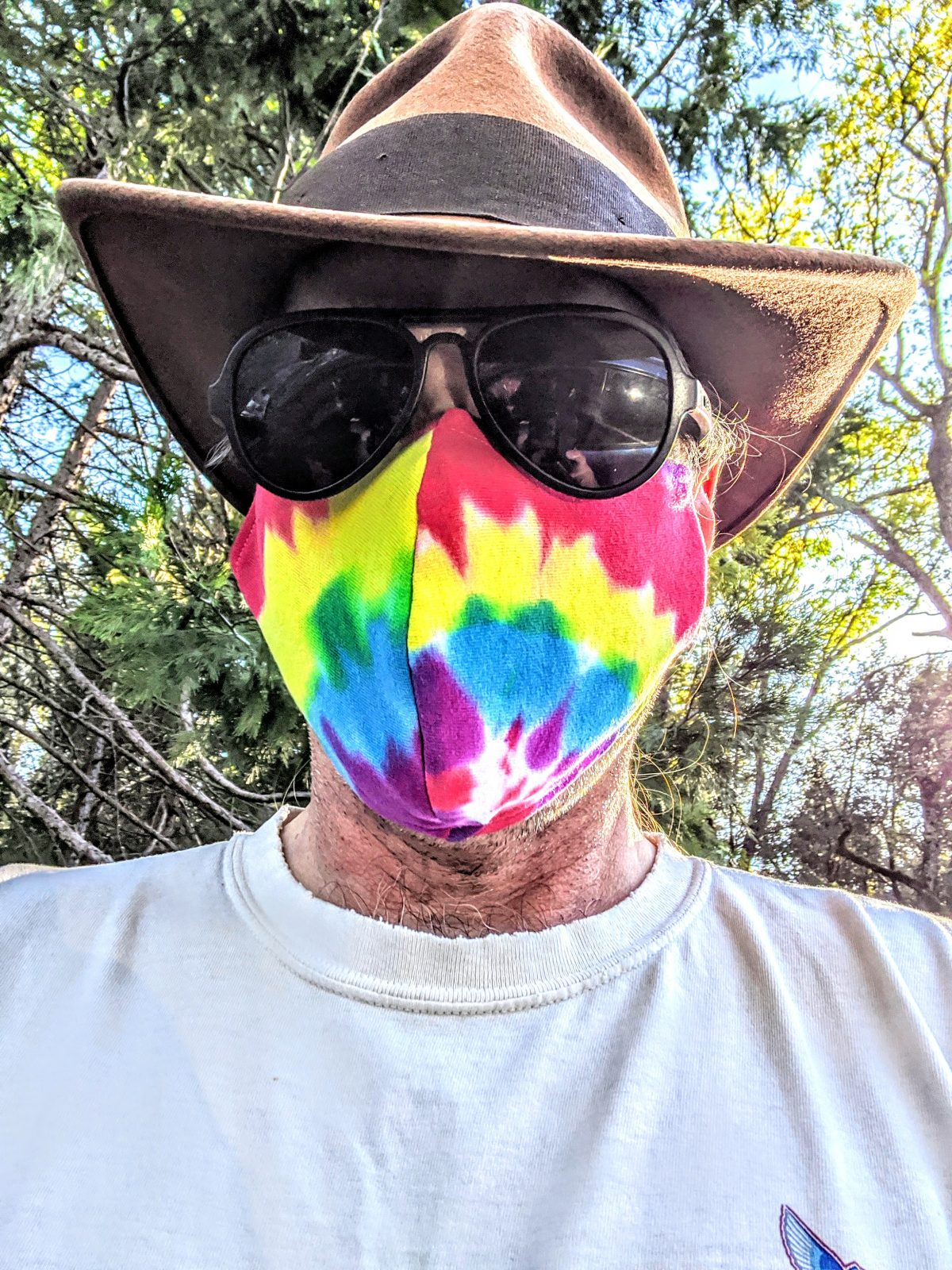 Stamas Bro Aristotle Wearing a Tie Dyed Covid Mask 2020 Image 001